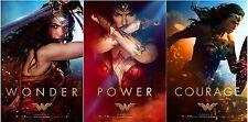 "WONDER WOMAN 2017 Original DS 2 Sided 27x40"" Movie Posters Set Of 3 Gal Gadot"