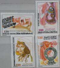 TUNISIA TUNESIEN 1991 1232-35 997-00 Jewelry Traditioneller Schmuck MNH