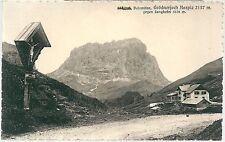 1910ca GRÖDNERJOCH non viaggiata Passo Gardena Grödner Joch Gruppo del Sella