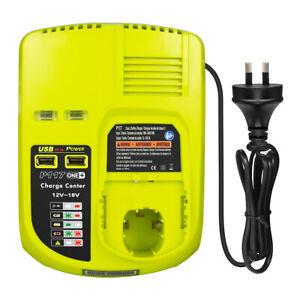 12-18V Fast Charger for Ryobi One+ P108 P105 ABP1801 Li-Ion Ni-Mh Ni-Cd Battery