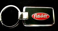 Peterbilt Black Onyx w/ Silver Trim Key Chain-Free Engraving on back