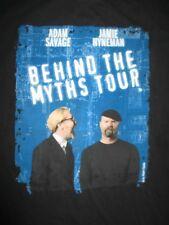 "ADAM SAVAGE and JAMIE HYNEMAN ""Behind the Myths Tour"" (XL) T-Shirt MythBusters"