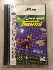 Virtual Open Tennis ( Sega Saturn ),Complete w/Case and Manual