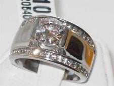 Cubic Zirconia Stainless Steel Unbranded Rings for Men
