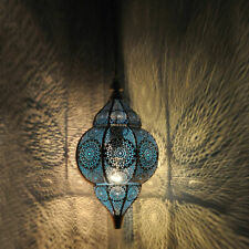 Home Decorative Ceiling Hanging Lamps Blue Moroccan Light Housewarming Lamp 14""