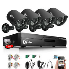 XVIM 8CH 1080P HDMI DVR 720P Outdoor Home Security Camera System 1TB Hard Drive
