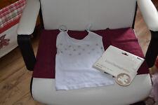 tee shirt lili castagnette neuf blanc avec etoiles 4/5 ans
