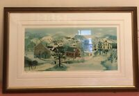 """Will Moses """" Schoolhouse Pond"""" Signed And Numbered 3/500. COA (21 1/2x 10 1/2"""")"""