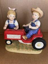 """Danny & Debbie Denim Days """"First Tractor"""" #1525 Farmer 1985 Homco"""