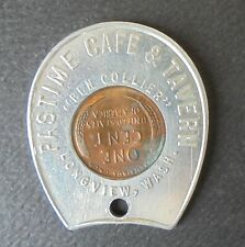 LONGVIEW WASH.  PASTIME CAFE & TAVERN  1947  ENCASED CENT