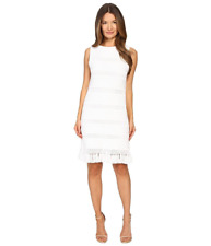 $398 kate spade new york Breath of Air Fringe Knit Sheath Dress.SZ:M