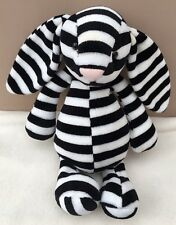 Jellycat Special Edition Laurie Bashful Bunny Rabbit Soft Toy Rare Striped Black