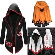 Anime Naruto Akatsuki Yondaime Hokage Cloak Jacket Plus Fleece Cardigan Hoodie