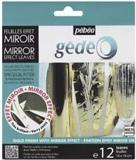 Pebeo Gedeo Mirror Effect Leaf 12 Sheet Pack - GOLD  Brand New!