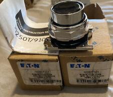 2 - NEW - EATON 10250T101 PUSHBUTTON Black  BUTTON