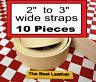 """10 Pieces, 2"""" to 3"""" Vegetable Tanned Tooling Leather Blanks Straps. Select"""