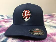 Grateful Dead Steal your Face 45 Record Spindle Embroidered Flexfit Ball Cap