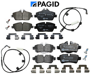 Front Brake Pads & Rear Brake Pads Set + Sensors Pagid Mini Cooper Base 07-10