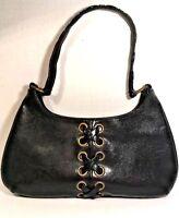 Steve Madden Small Slim Black Faux Leather Shoulder Bag