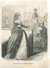 Révolution Française Paris Marie Antoinette au Tribunal  GRAVURE 1851