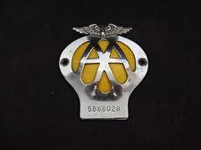 AA Automobile Association Car Metal Badge Plate #5B66028 Wings Yellow