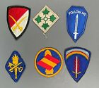 Lot of 6 US Army Patches