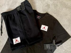 Mens Nike Air Jordan Flight Ess T-Shirt & Jordan Flight Fleece Shorts SET 23 MJ