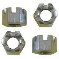 M14 x 1.25 Slotted Nut Pack  (Pack of 4) (Metric Extra Fine)