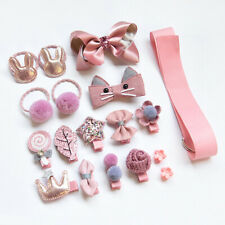 18Pcs Hair Clips Girls Hair Accessories Toddlers Gift Box Set Boutique Hair Ties