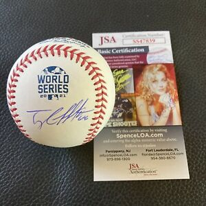 Tyler Matzek Signed 2021 World Series Baseball Autographed Braves Auto JSA COA