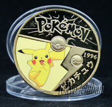 PIECE POKEMON PIKACHU KAWAII - GOLD METAL COIN - CARTE CARD - GO V2