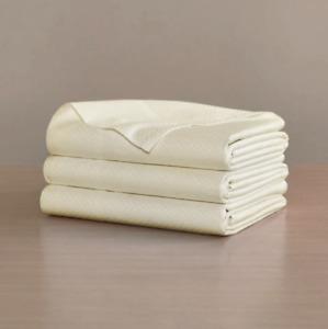 Frette Sarafina Cream Small Check Luxury Flat Queen Bed Sheet 100% Cotton NEW!