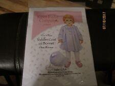 New Size 1, 2, 3, & 4 Toddler Coat & Bonnet By: Karen Faylor Co.