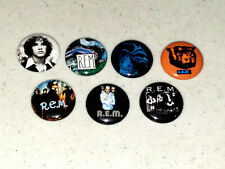 7 Buttons 1 Inch Pin R.E.M. REM Cronic Town Monster Lifes Rich Logo - LOT B