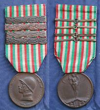 CONIATA BRONZO NEMICO CAMPAGNA ITALO AUSTRIACA + BARRETTE 1915/16/17/18 SACCHINI