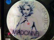 "Madonna - Erotica Mega Rare Sexy Nude Picture Disc 12"" Promo Maxi Single LP MINT"