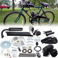 50cc Motorised Bicycle Push Bike 2 Stroke Motor Engine Kit Black 30km/h