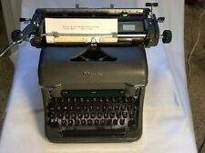 Vintage Rare 1960/61 Olympia Typewriter Mod. SG1 Deluxe Green Matte. W. Germany.