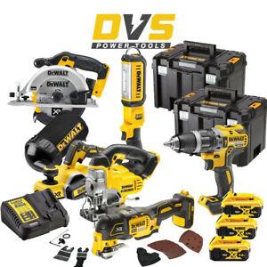 DeWalt DCK665P3T 6 Piece 18V XR Cordless Power Tool Kit Set w/3x 5Ah Bat & Cases