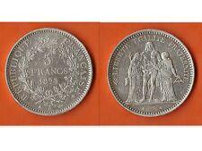 5 FRANCS 1873 A HERCULE ARGENT