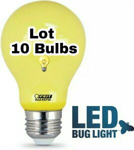 10Yellow LED Bug Light Bulb Insect Moth Repellent Outdoor Patio Gazebo Porch NEW