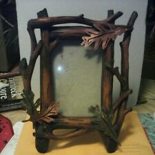 Vintage Picture Frame Hand Painted Branch Leaves