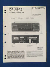 KENWOOD DP-A5 DP-A9 CD SERVICE MANUAL ORIGINAL FACTORY ISSUE GOOD CONDITION