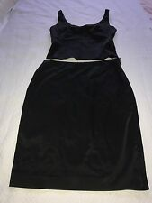 Oasis Women Skirt & Top/ Satin Body Suit/Size: 14