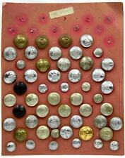 Large Collection Of Old Fire Brigade Buttons, Total of 52, All In Good Condition