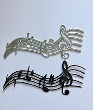 Musical Notes Craft Die Cards, Scrapbooking. UK Seller.
