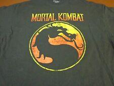 Mortal Kombat Klassic T-Shirt Black Dragon 100% Cotton Men's Size 2XL XXL S3