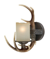VAXCEL LIGHTING W0032 WALL SCONCE 1 LIGHT ANTLER