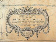 ANCIENNE CARTE GEOGRAPHIQUE MARINE St PIERRE MIQUELON DUC CHOISEUL BELLIN ATLAS