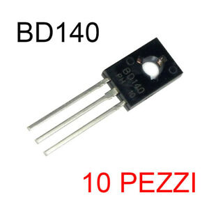 10 pezzi BD 140 BD140 PNP Transistor